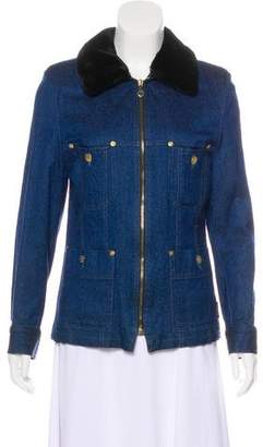 Sonia Rykiel Denim Zip-Up Jacket