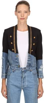Greg Lauren Wool & Vintage Denim Jacket