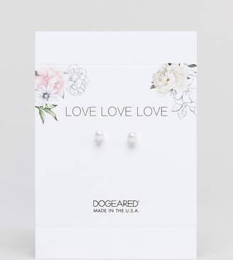 Dogeared Pearl Stud Earrings