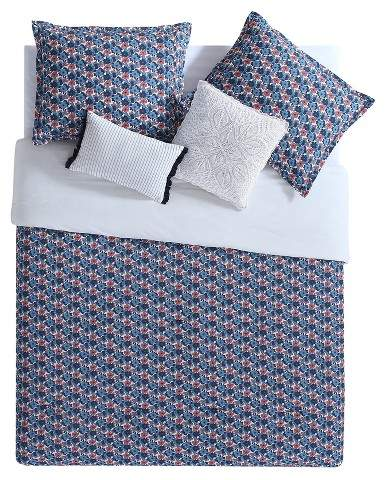 VCNY White & Navy Audrey Reversible Comforter Set