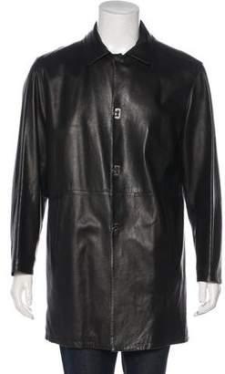 Salvatore Ferragamo Leather Gancio Coat