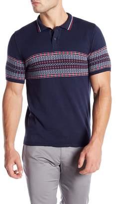 Parke & Ronen Jacquard Short Sleeve Polo
