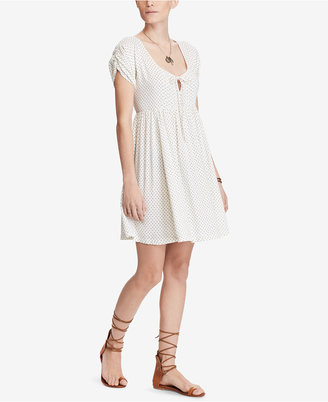 Denim & Supply Ralph Lauren Dotted Keyhole Dress $98 thestylecure.com