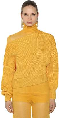 Krizia Off The Shoulder Knit Sweater