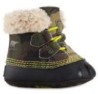 Sorel Baby's Leather Shearling Caribootie