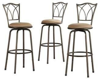 Weston Home Aidan Cross Back Adjustable Kitchen Bar Stool, Set of 3 Bar stools