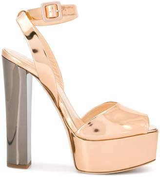 23ef33cea53 Giuseppe Zanotti Gold Platform Women s Sandals - ShopStyle