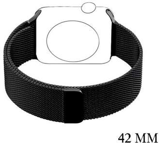 VicTsing Stainless Steel Mesh Milanese Loop with Adjustable Magnetic Closure Replacement Band for Apple iWatch Series 2 Series 1 and Edition 38mm 42mm (42mm,Black)