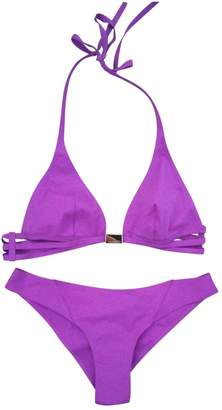 La Perla Purple Cotton - elasthane Swimwear for Women