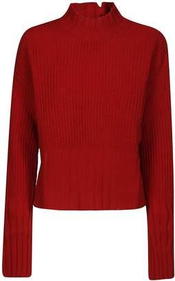 MSGM Distressed Rib Knit Sweater