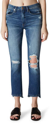 Blank NYC High-Rise Ripped-Knee Faded Skinny Jeans