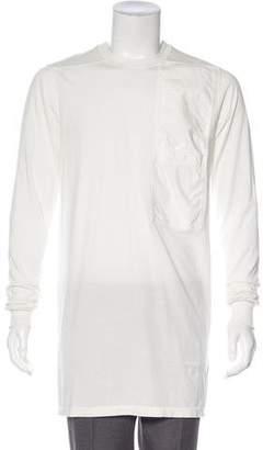Rick Owens 2017 Longline Pocket T-Shirt