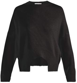 Valentino Curved Hem Cashmere Sweater - Womens - Black