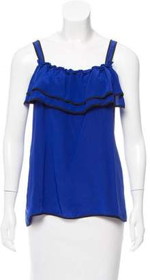 Yumi Kim Ruffle-Accented Sleeveless Top