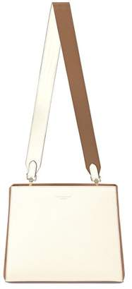 Aspinal of London Small Ella Hobo In Ivory Pebble With Ivory Camel Strap