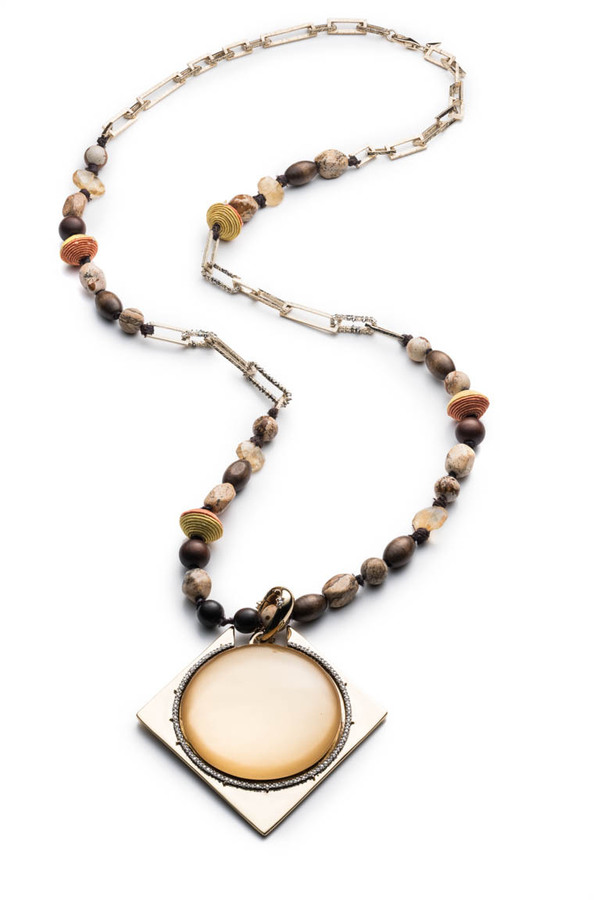 Alexis BittarBeaded Strand Necklace with Pendant