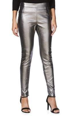 Vero Moda Metallic Coated Leggings XS (4) 32 Leg