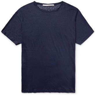 Isabel Benenato Knitted Linen T-Shirt