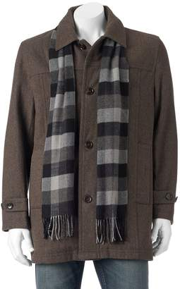 London Fog Towne By Big & Tall Towne Wool-Blend Top Coat