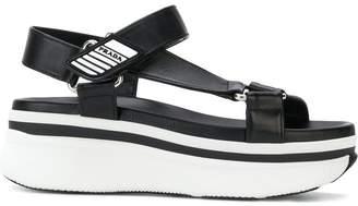 Prada touch strap platform sandals
