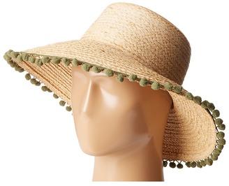 Hat Attack - Pom Pom Fringe Lampshade Sun Hat Caps $98 thestylecure.com