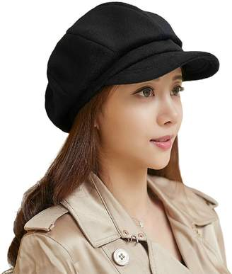 Siggi Newsboy Winter Hats Cap Ladies Cabbie Beret Cancer Visor Hat for Women Camel