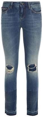 Dolce & Gabbana Logo Embellished Jeans