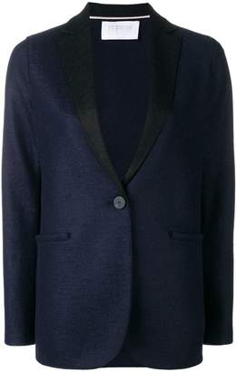 Harris Wharf London contrast lapel blazer