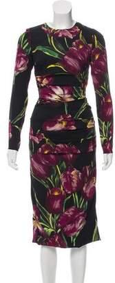 Dolce & Gabbana Tulip Print Midi Dress