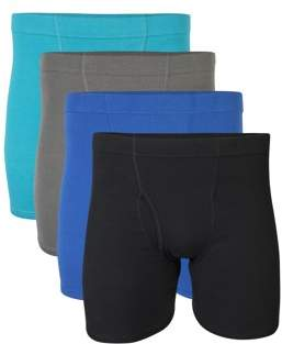 Gildan Big Men's 2XL Covered Waistband Boxer Brief Underwear, 4-Pack