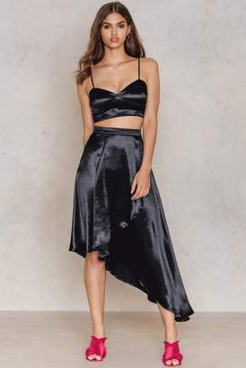 boohoo Wrap Skirt & Bralet Co-ord