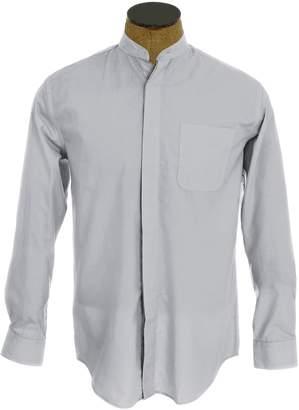 Sunrise Outlet Men's Collarless Banded Collar Dress Shirt - 15.5 32-33