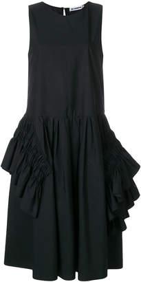Jil Sander ruffle-trimmed midi dress