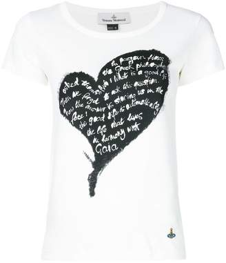 Genny zebra print heart T-shirt Latest Original Cheap Price N0DQOp