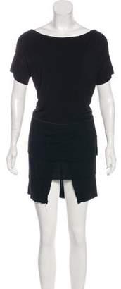 Tomas Maier Short Sleeve Mini Dress