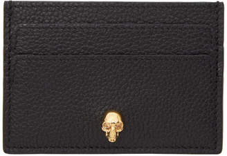 Alexander McQueen Black and Gold Skull Card Holder