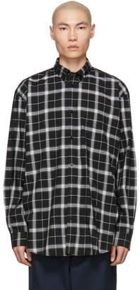 Balenciaga Black Light Check Logo Shirt