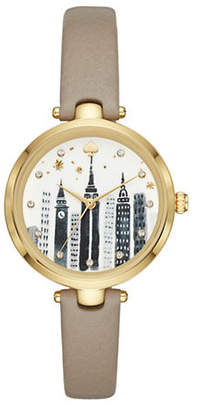 Kate Spade Skyline Leather Strap Holland Watch