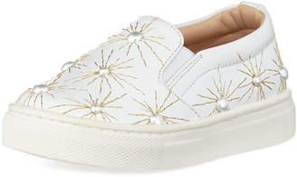 Aquazzura Cosmic Pearl Slip-On Sneaker, Infant