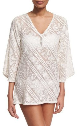 Letarte Mystique Embroidered Tunic Coverup $272 thestylecure.com