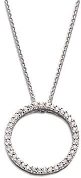 Roberto Coin Women's Tiny Treasures Diamond & 18K White Gold Small Circle Pendant Necklace