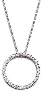 Roberto Coin Women's Tiny Treasures Diamond & 18K White Gold Small Circle Pendant Necklace