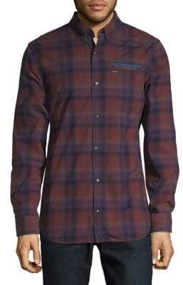 Buffalo David Bitton Woven Plaid Button-Down Shirt