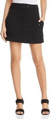 T Tahari Shauney Button-Front Mini Skirt