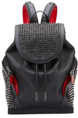 Christian Louboutin Men's Basic Studded Leather Backpack