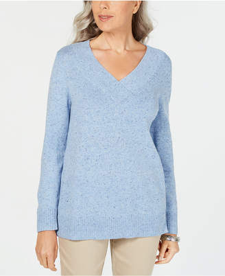Karen Scott V-Neck Long-Sleeve Sweater