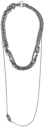 Ann Demeulemeester layered chain necklace