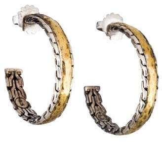 John Hardy Palu Hoop Earrings