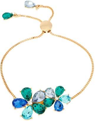Isaac Mizrahi Live! Adjustable Crystal Flower Bracelet