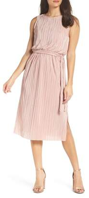 BB Dakota Off to the Races Pleated Midi Dress